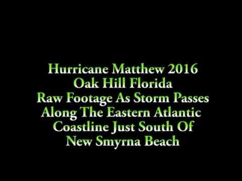 Raw Footage of Hurricane Matthew Hitting Oak Hill Florida