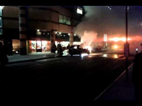 Car on 59th Street (Manhattan) burning