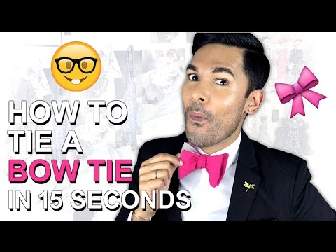 How To Tie A BOW TIE In 15 Seconds + GIVEAWAY!