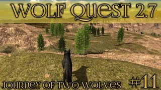 Atlas the Lone Wolf's Search for a Mate 🐺 Wolf Quest 2.7 - Brothers Journey || Episode #11