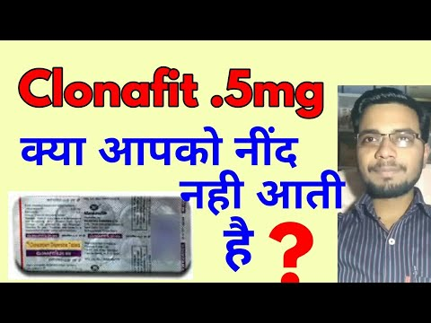 Clonafit tablet !!Anxit  5 mg benefit&sideffect in hindi | Tech