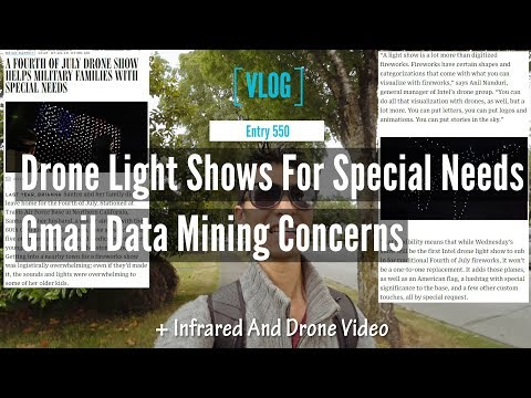 Drone Light Shows For Special Needs People And Google Gmail Data Mining Concerns