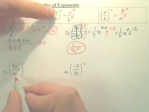 Worksheets Division Properties Of Exponents Worksheet 7 4 division properties of exponents algebra 1 youtube