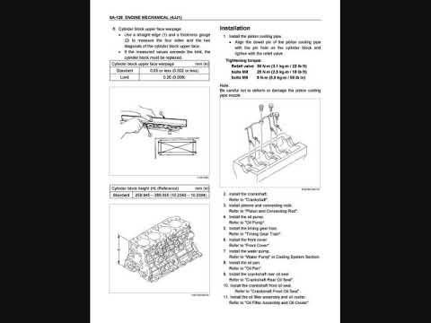 Isuzu 4jj1 Service Manual