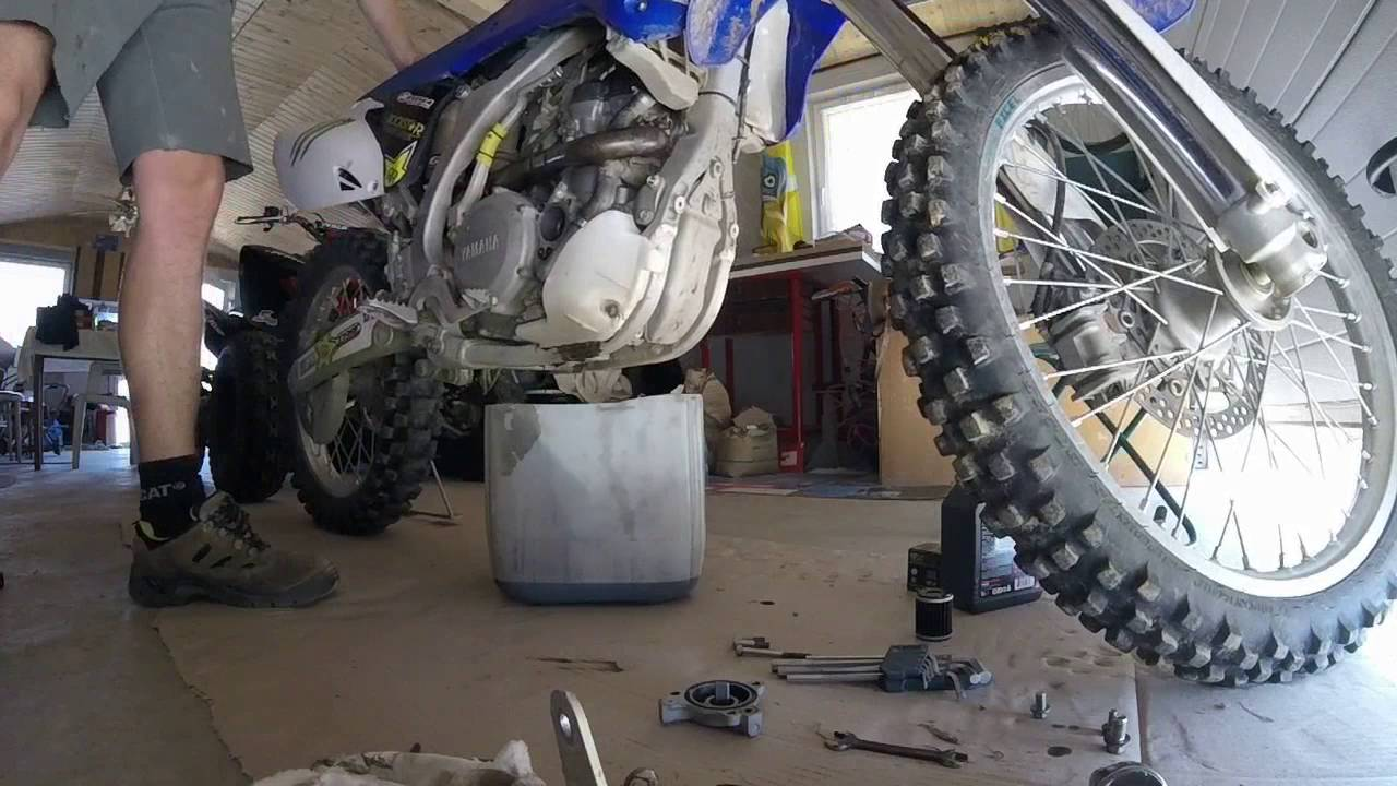 yamaha yzf 250 oil and oil filter change