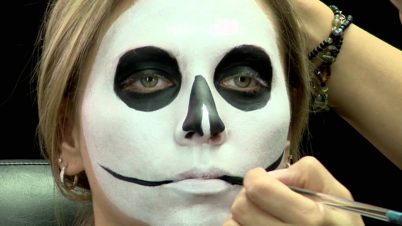 Skull face for Halloween - Makeup Tutorial - Cirque du Soleil ...