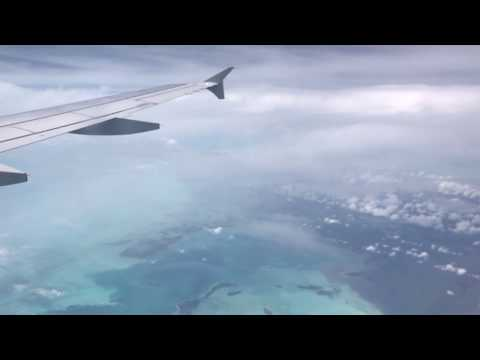 American Airlines (AAL821) Landing in Grand Cayman from Charlotte,NC