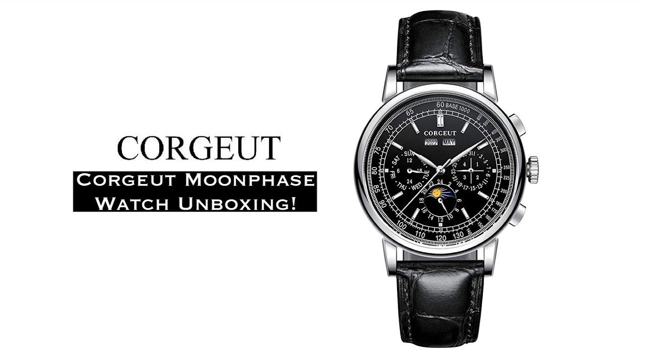 AliExpress Watch Unboxing - Corgeut Moonphase Annual Calendar (Patek Philippe 5270 Homage)