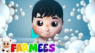 Canção De Banho | Vídeos Animados | Poemas Para Crianças | Farmees Português | Educação