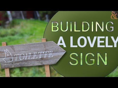 Rustic wedding sign - DIY