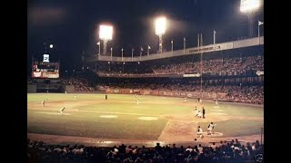 On june 17, 1962, at the polo grounds, during first inning of game a twin bill chicago cubs outfielder lou brock hits 460-foot home run in...