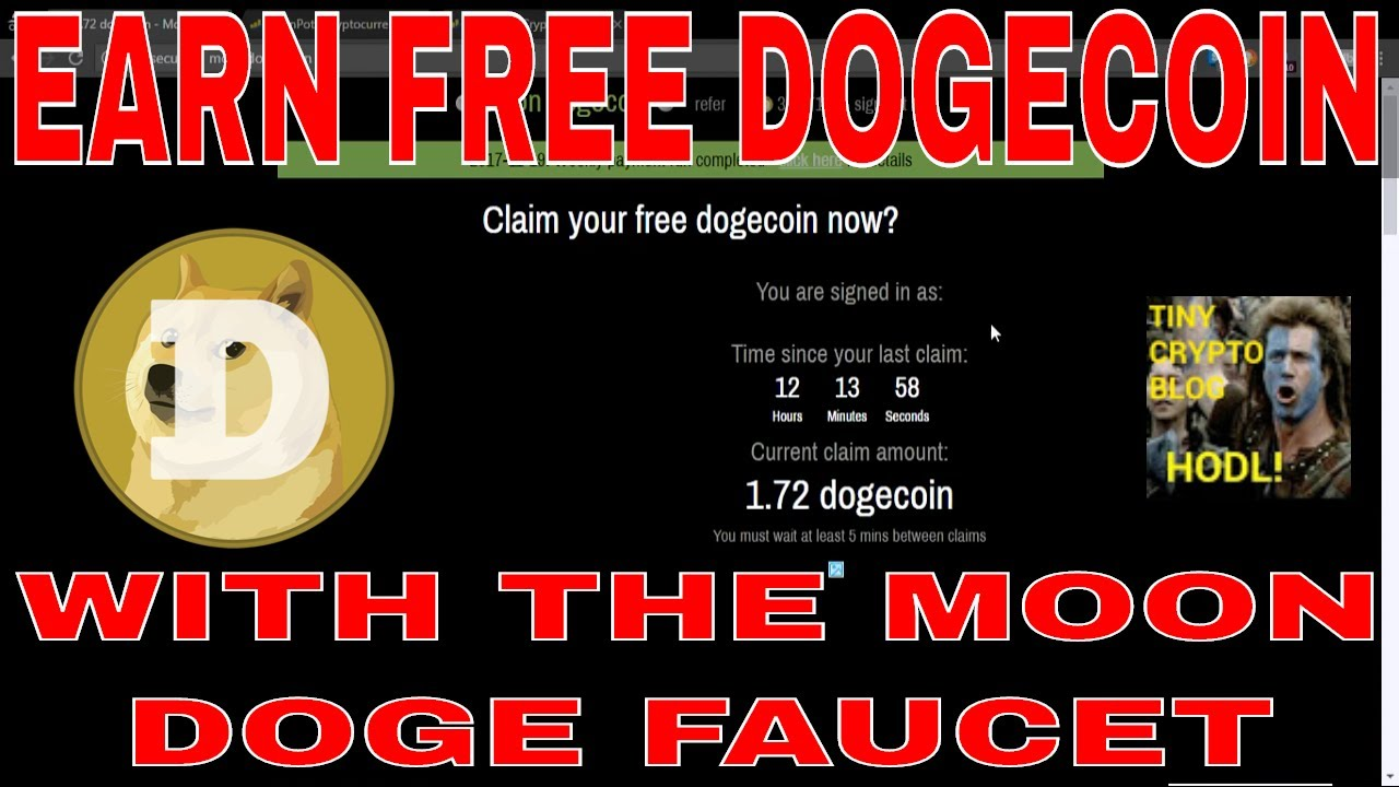 Earn Free Dogecoin With the Moon Doge Faucet! - YouTube