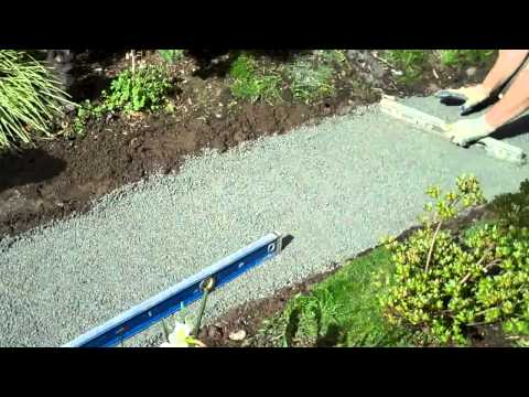 How to build a flagstone walkway part I