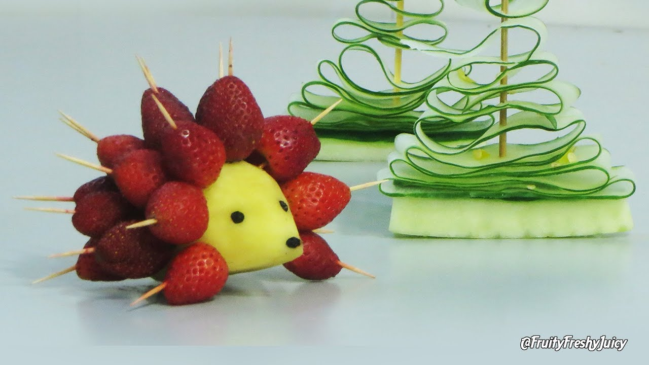 Art in Strawberry Hedgehog & Cucumber Trees - Beautiful Fruit & Vegetable Lifehacks