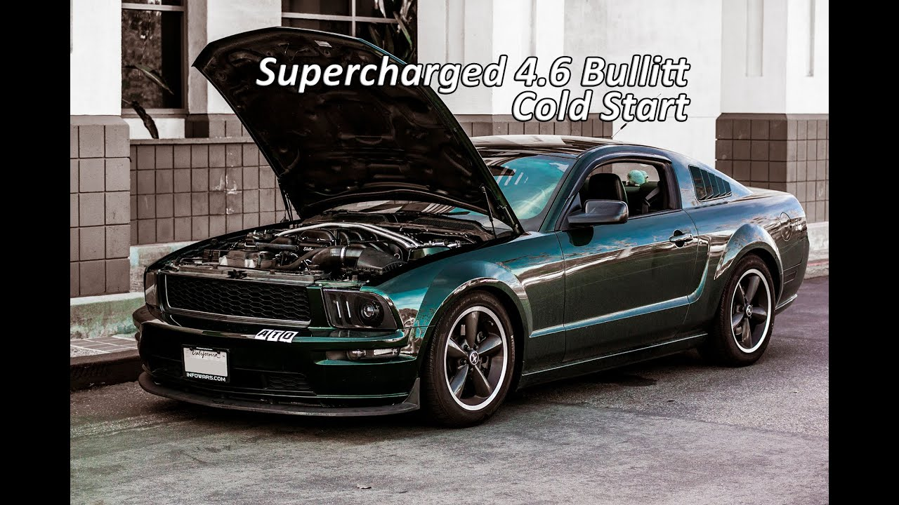 supercharged 2008 mustang bullitt cold start youtube. Black Bedroom Furniture Sets. Home Design Ideas