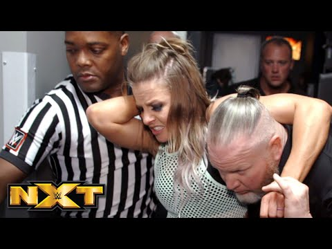 Candice LeRae receives medical attention after attack by Io Shirai: NXT Exclusive, June 26, 2019