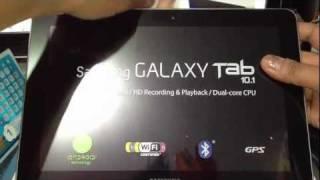 Samsung Galaxy Tab 10.1 Unboxing 16GB 3G+Wifi