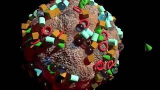 3ds Max MassFX Planet Gravity Simulation