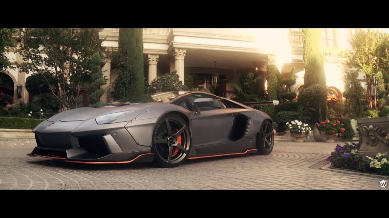 Liberty Walk Lamborghini Aventador Wrapped In Brushed Steel With Orange Accents Youtube