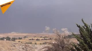 """بالفيديو: الجيش السوري يتقدم بمحيط حماة...وطيرانه يحقق إصابات بليغة بـ""""جبهةالنصرة"""""""