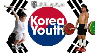🇰🇷 Team Korea Training Hall Youth Worlds Clean and Jerks, Clean Pulls, Front Squats