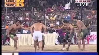 3rd World Cup Kabaddi 12th Dec 2012  Canada vs Pakistan  Semi FInal Part 1.mpg