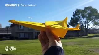 Cách gấp máy bay giấy cực dễ - Nhìn Thật Ngầu - Bay Thật Êm  | SaGa