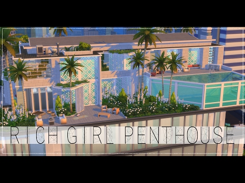 The Sims 4 Speed Build - Rich Girl Penthouse