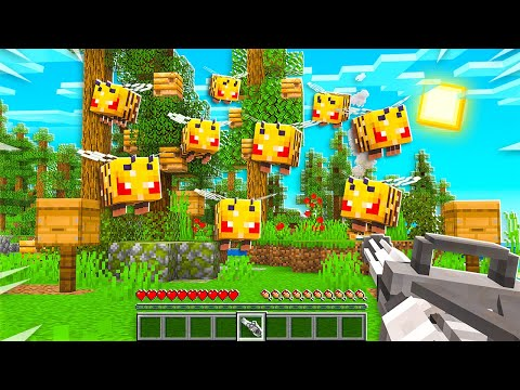 FIGHTING 10,000 ANGRY BEES IN MINECRAFT!
