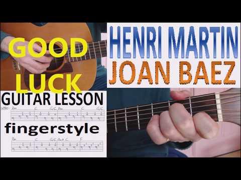 HENRI MARTIN - JOAN BAEZ Fingerstyle GUITAR LESSON