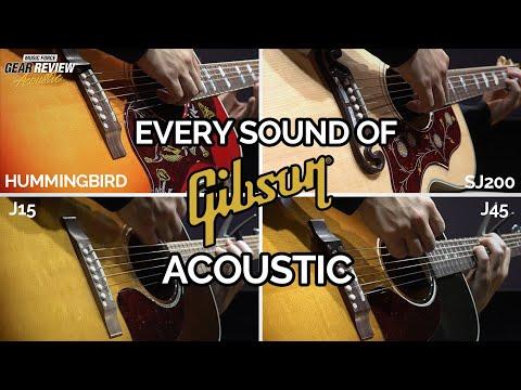 [Gibson Acoustic Review] SJ200 VS Hummingbird VS J45 VS J15