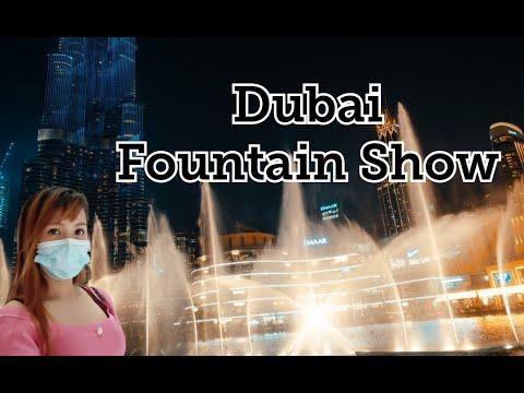DUBAI FOUNTAIN   Dubai Mall   Burj Khalifa night view   Dubai 2021