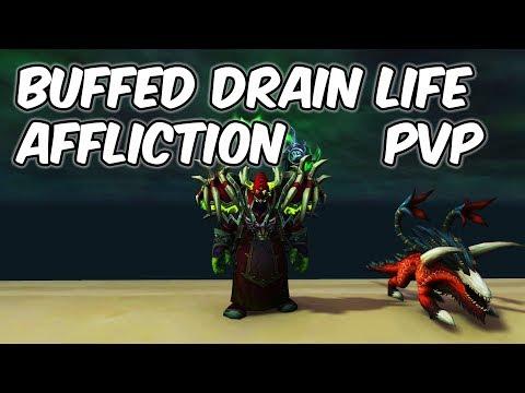 Buffed Drain Life - 8.0.1 Affliction Warlock PvP - WoW BFA