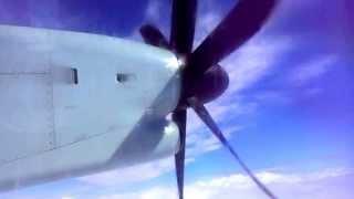 """"""" efeto otico"""" curioso de las palas de la hélice de este avión"""