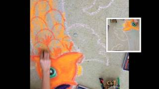 How to make a chalk pastel Street Painting