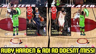 RUBY JAMES HARDEN AND ANTHONY DAVIS JOIN SQUAD! AD BEASTS! NBA 2K18 MYTEAM GAMEPLAY