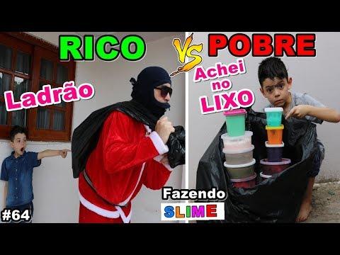 RICO VS POBRE FAZENDO AMOEBA / SLIME #64