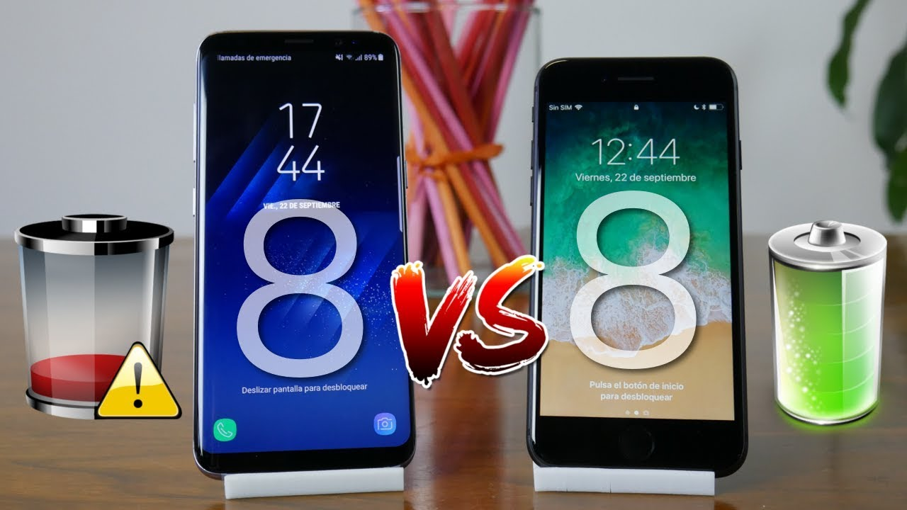 Bateria Iphone 8 Vs Samsung S8