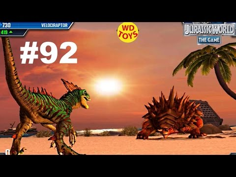 New Jurassic World The Game -  Episode 92 Carnivore Matchup 1 Indominus Rex Vs Gameplay  WD Toys