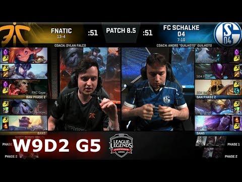 Fnatic vs FC Schalke 04 | Week 9 Day 2 of S8 EU LCS Spring 2018 | FNC vs S04 W9D2 G5