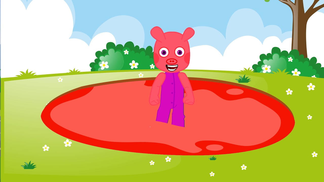 PaPa Pig Family 22 Learn colors with, cartoons for children, animation movies