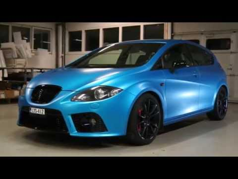 Car wrapping - 3M Satin ocean shimmer Leon Cupra