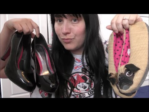Asmr Shoe Shop Role Play / Shoe Collection Ramble Show sounds! *Tingles*