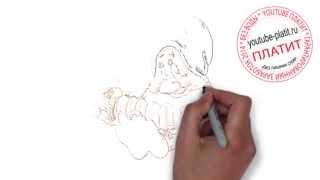 Белоснежка и семь гномов смотреть онлайн  Как правильно рисовать карандашом белоснежку