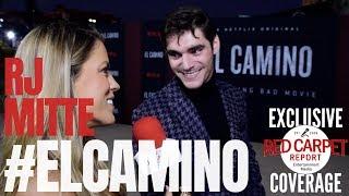 RJ Mitte interviewed at Netflix's 'El Camino: A Breaking Bad Movie' World Premiere