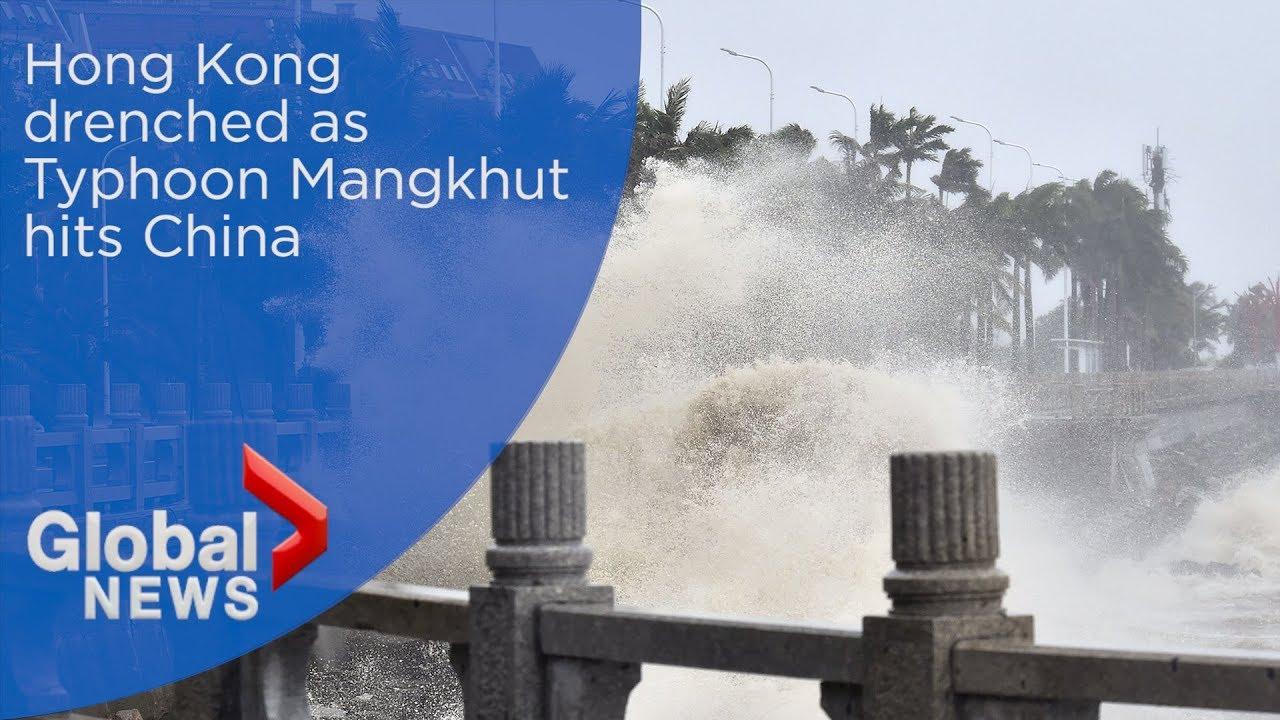 Hong Kong drenched as Typhoon Mangkhut hits China