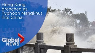 Hong Kong drenched as Typhoon Mangkhut hits China