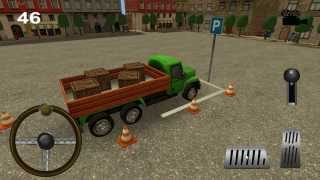 Маленькие 3D грузовик парковку