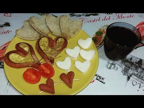 Завтрак любимому мужу ♡ день влюбленных ♡