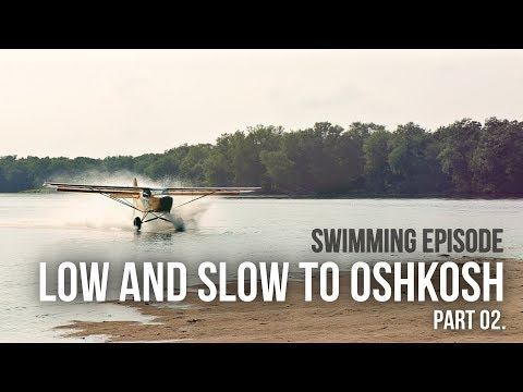 ALMOST WENT SWIMMING WITH THE KITFOX! LOW and SLOW to Oshkosh.